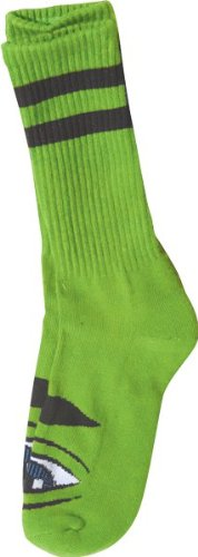 Toy Machine Sect Eye (Toy Machine Sect Eye Iii Crew Socks Green 1 Pair Skate Socks)