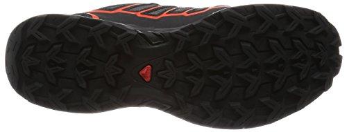 Salomon L38163700, Zapatillas de Senderismo para Hombre Gris (Autobahn /     Black /     Tomato Red)