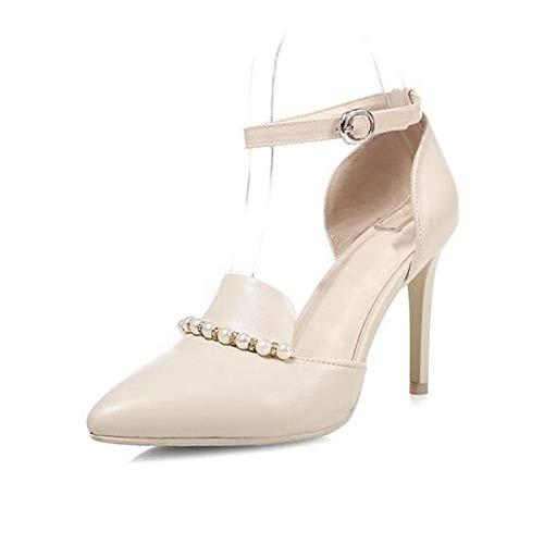 Stiletto Heel Shoes White Heels Pump Pink Leather Nappa QOIQNLSN Women'S Basic Summer White Black z5n0q68v0