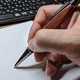 Amazon 銘木の三角型木製ボールペン Triangle Body Ballpoint Pen Lumber By Hacoa ウォールナット 油性ボールペン 文房具 オフィス用品