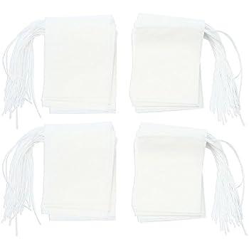 niceeshop(TM) Disposable Drawstring Seal Filter Empty Paper Tea Bags Coaster(White,Medium Size,Set of 200)