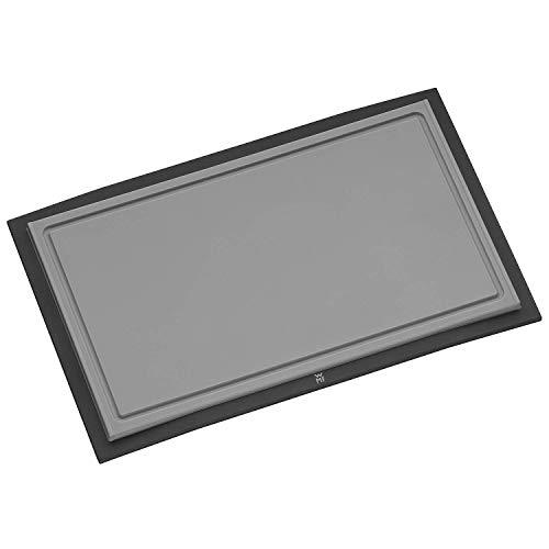 WMF Touch Schneidebrett Tranchierbrett schwarz, 32 x 20 cm, rechteckig Kunsstoff Saftrillen, spülmaschinengeeignet, hygienisch klingenschonend, geschmacksneutral