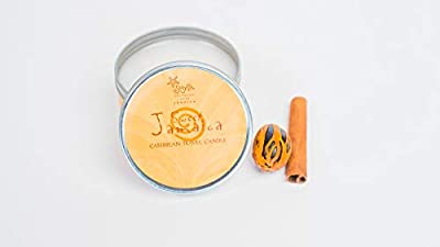 Sweet Jamaica Travel Candle - 6oz. 2 candles per pack.Our get-away candle. Sweet Jamaica's sweet orange, vanilla and nutmeg transports you to a warm, flavourful space of mind, made with Dead Sea salts