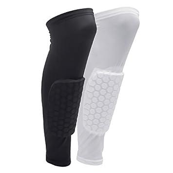 oobest Calcetines de protección para Las piernas}  Cinturones celulares elásticos para Baloncesto de Voleibol, Protectores de piernas, ...