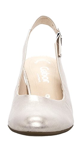 Heels Closed Women's Gabor Comfort Platino Black Toe Fashion CwwXtx7q