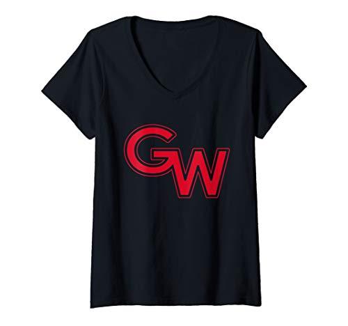 Womens Gardner Webb University Bulldogs NCAA PPGRU03 V-Neck T-Shirt