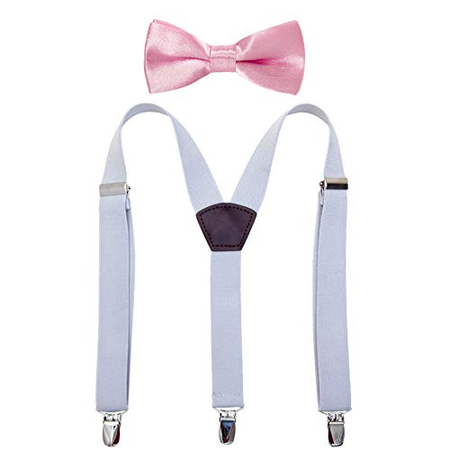 Costume Bow Ties - Child Kids Suspenders Bowtie Set -