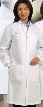 Fashion Seal - Unisex Lab Coat Snap Front/Knit Cuffs - Large -