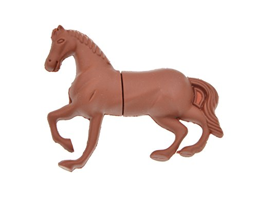 - USB 3.0 Memory Stick 64GB Flash Drive for Computer Cute Brown Horse Design Pen Drive Zip Drive New Year's Gift by FEBNISCTE