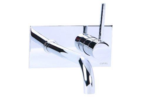 Cifial 225.152.625 Techno 25 Wall Mount Lavatory Faucet, Polished Chrome