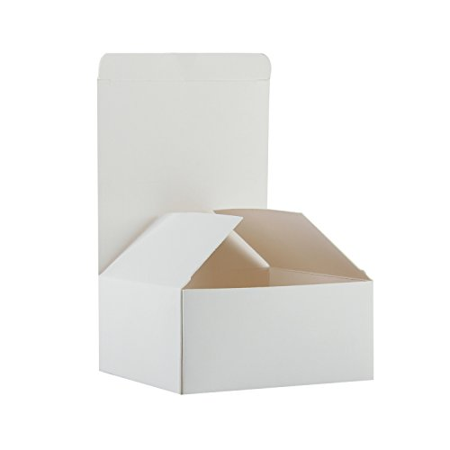 RUSPEPA Recycled Cardboard Gift Boxes - Small Gift Box with Lids For Bracelets, Jewelry And Small Gifts - 4''X4''X2'' - 30 Pack - White by RUSPEPA