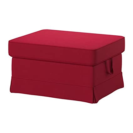 IKEA Cover for Ektorp Ottoman (footstool) Nordvalla Red (Slipcover Only)