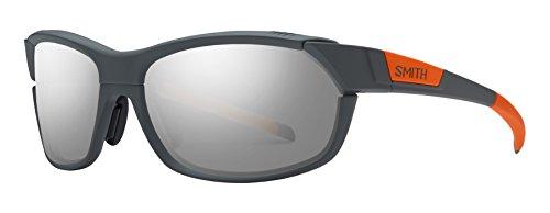 Smith Optics Unisex Pivlock Overdrive Performance Sunglasses Charcoal Neon Orange / Super Platinum from Smith Optics