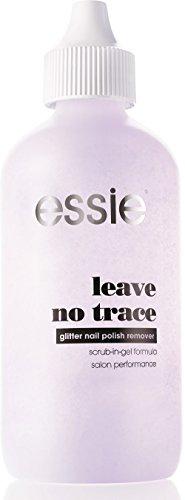 essie Nagellackentferner leave no trace / Remover für Top Coats mit Glitzerpartikeln, 1 x 120 ml