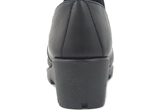 Pelle The i17 B41321 Flexx Scarpa Donna Zeppa 5cm Nero In wIFCaqxIR
