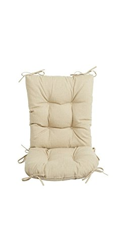 Outdoor 2 Piece Rocking Chair Cushion Set 18.5'' x 22'', Husk Birch. (Outside Chair Cushions Sales)