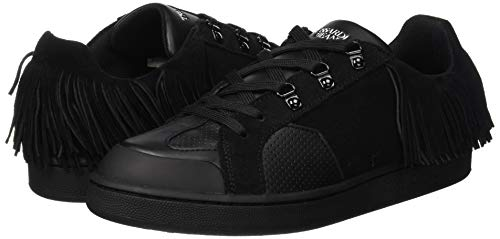 Sneakers Shoes Fringes Women's Jeans Gymnastics K299 With nero Trussardi Black qvZfg