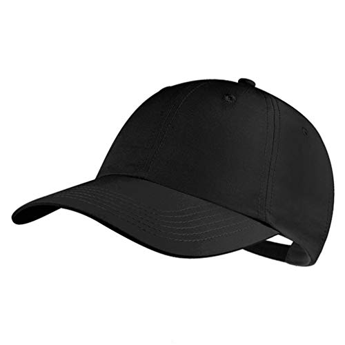 GADIEMKENSD Cotton Baseball Cap, Quick Dry Lightweight Breathable Soft Outdoor Run Cap Plain Youth Sports Dad Hat Dads Structured Fitted Hats Mens Caps Classic 6 Panel Simplicity Solid Color Black Dry 6 Panel Cap