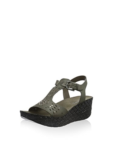 CAFèNOIR Damen Qhh123 Sandale mit Plateau-Sohle Grau