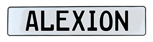 Vintage Parts 580072 Wall Art  Alexion White Stamped Aluminum Street Sign Mancave