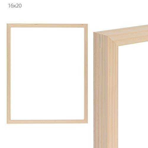 Amazoncom Ambiance Unfinished Wood Gallery Frame 16x20 In