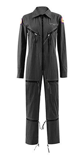 Xiao Maomi Ellen Cosplay Costume Flight Pilot Zipper Jumpsuit Astronaut Uniform for Women Halloween Outfit (M, -