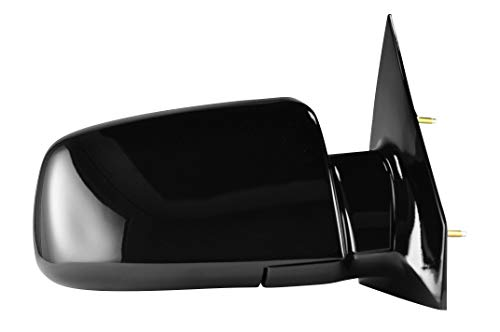 Passenger Side Painted Black Manually Operated Side View Mirror for 1988-1988 GMC Astro, Chevrolet Astro, GMC Safari, 1988-1989 Pontiac Safari