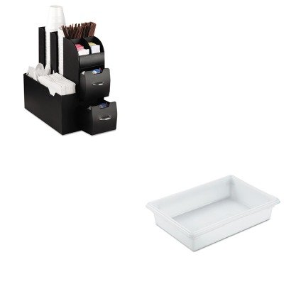 KITEMSCAD01BLKRCP3508WHI - Value Kit - Rubbermaid-White Food Boxes; 8 1/2 Gallon 8 1/2 Gallon (RCP3508WHI) and Ems Mind Reader Llc Coffee Organizer (EMSCAD01BLK) (Reader White Box)