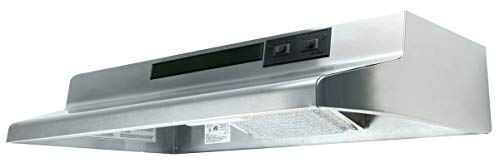 Air King AV1308 Advantage Convertible Under Cabinet Range Hood with 2-Speed Blower and 180-CFM, 7.0-Sones, 30-Inch Wide, Stainless Steel -