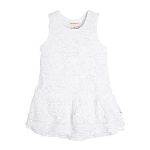(Burt's Bees Baby Baby Girl's Toddler Dress, Infant & Toddler, Short & Long-Sleeve, 100% Organic Cotton, Cloud Crochet Racerback)