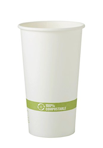 World Centric Wood Pulp and Corn Compostable 20-Ounce Hot Paper/PLA Cup, 1000 ct by World Centric