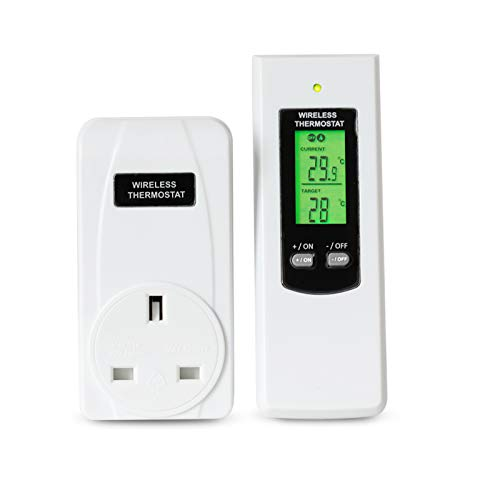 elegantstunning TS-808 Automatic Wireless Thermostat with LCD Remote Control TS-808-UK (Best Wireless Thermostat Uk)
