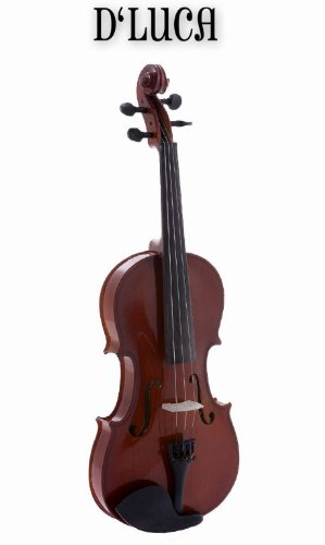 D'Luca DL-45034 Meister Ebony Fitted Beginner Violin Outfit 3/4 by D'Luca