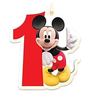 Vela de cumpleaños de Mickey Mouse 1: Amazon.es: Juguetes y ...