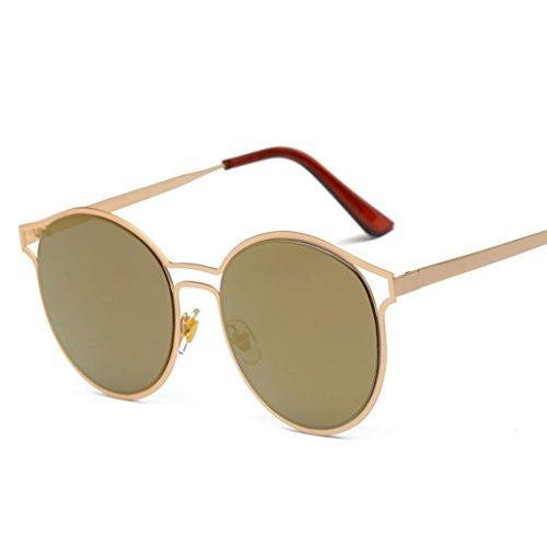 de Winwintom lente Mujeres moda espejo E Colour gafas Vintage de Hombres gafas aviador Retro unisex sol viajes 4Yxrv4q