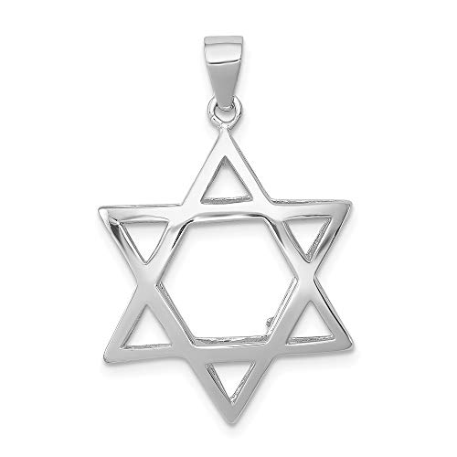 Sterling Silver Puffed Star of David Pendant (Sterling Star Silver Puffed)