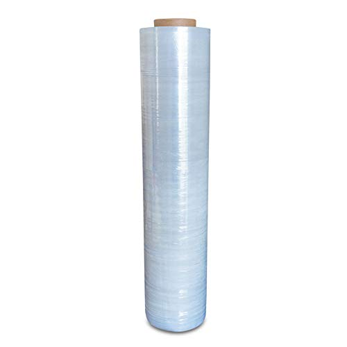 Pack of America Industrial Stretch Wrap | Wrapping Plastic Film | Packing - Moving Supply | Pallets, Furniture, Cartons, Boxes, Best Shipment Protection | 1 Roll Clear 18'' x 1100 Foot 2'' Core 80 Gauge by Pack of America