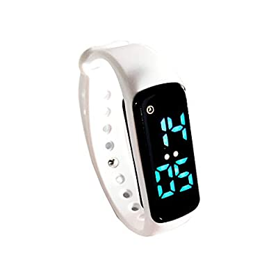 Potty Training Watch - Baby Reminder Rechargeable & Water Resistant - Toilet Training LED Watch for Boys & Girls - Potty Trainer Alarm/Timer & Bathroom Training Aid for Kids and Toddler (White)