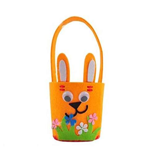 YCDC orange Easter Rabbit Basket, Handmade Felt DIY Craft, Easter Decoration, DIY Easter Eggs, Bunny Ornaments Easter Rabbit Basket Handmade Felt DIY Craft Easter Decoration DIY Easter Eggs