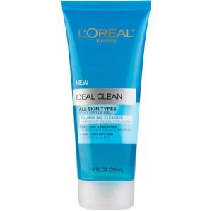 L'Oreal Ideal Clean Foaming Gel Cleanser For All Skin Types 6.8 oz. (Pack of 3)
