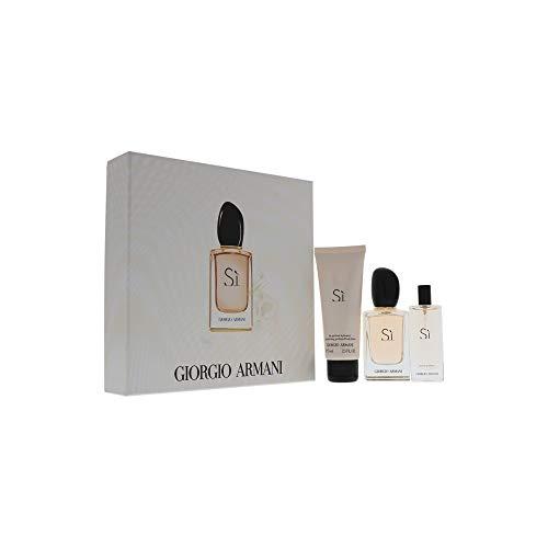 Giorgio Armani Si Gift Set, 3 Count Chic Perfume Gift Set