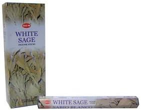 Incienso de salvia blanca de incienso (6 paquetes de=120 ...