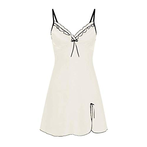 HYIRI Nightwear Sleepskirt,Womens Nighte Dress Plus Size fold Bow Lingerie Babydoll for $<!--$1.22-->