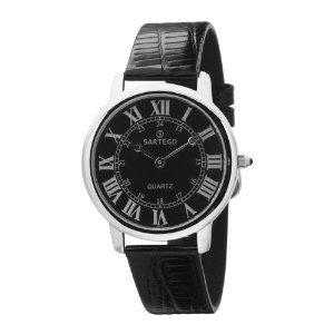 Mens Toledo Dress Watch - Sartego Men's SEN741B Toledo Leather Strap