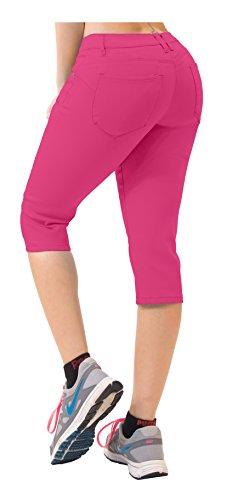 (Super Comfy Stretch Bermuda Shorts Q43308 Fuchsia 15)