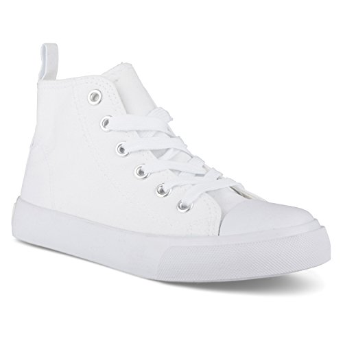 All White Kids Sneakers - 3