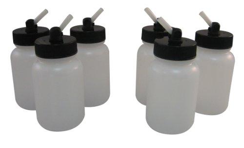 350 Airbrush Set - Badger Air-Brush Co. 51-0056B 3-Ounce Plastic Jar with 350 Adaptor, Box of 6