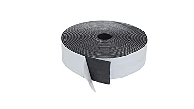 V-Max Foam Insulation Tape Adhesive, Seal, Doors, Mounting, Waterproof, Plumbing, HVAC, Craft, Window,and Weather Stripping, Wall, Pipes, Air Conditioning, Construction Black Tape One Sided Adhesive