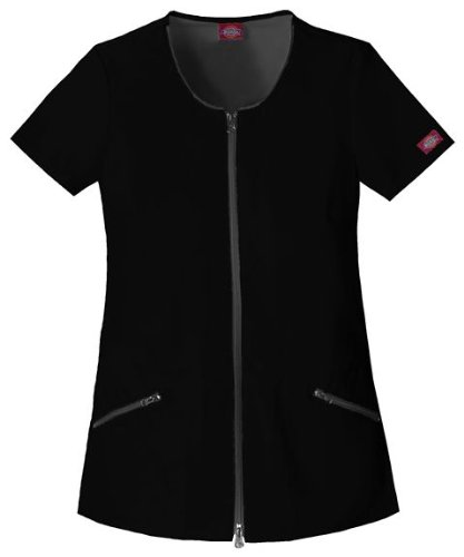 Hip Flip Scrub (Zip Down Hip Flip Tunic - Dickies 82701 - X-Large Black)
