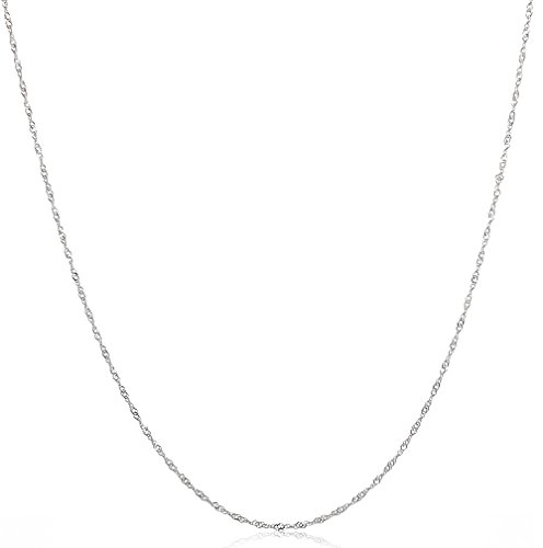 925 Sterling Silver Italian 1.2MM , 1.5 MM & 2MM Singapore (Twisted Curb) Chain Necklace - 30 Silver